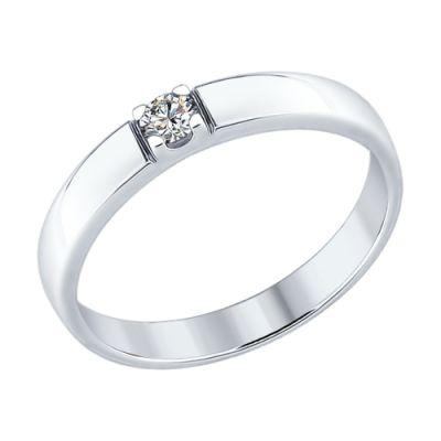 Кольцо серебряное женское SOKOLOV с фианитом С89010057 f29646dde52